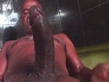Huge black cock inside a tight mouth