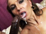 Hot milf gets fucked by a hung and horny black guy