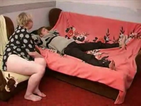 Fat Russian mature and boy