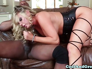Glamour busty blonde milf loves bbc