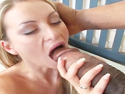 Aline in One in mouth one in ass = 2 Big To Be True!