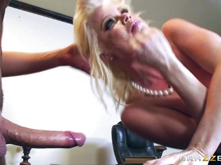 Horny babe Nikki Delano gagged by huge cock