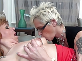 Three old and young lesbians love