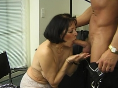German granny gets her tits glazed Mature and MILF Videos