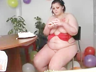 BBW BDAY CANDLES IN PUSSY CHUBBY ASS 2