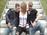 Liona double fucked in public place