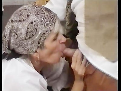 Chubby Granny Gets Her Hairy Pussy Fucked