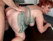 Fat grandma enjoying nasty sex