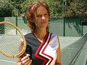 Pussy fucking tennis court action