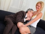 Lovely blonde babe Shelly blows the teacher