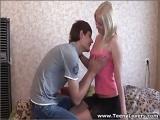 Teeny Lovers - Blonde teeny taking balls deep