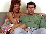 Redhead MILF Bunny Bleu gets railed on couch