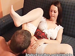Tutor licks students pussy and rims her before she rims him Ass and Brunette Videos