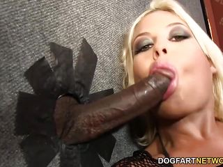 Bridgette B sucks many black cocks - Gloryhole