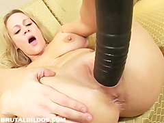 Busty milf stretched by brutal dildo Masturbation and Toys Videos