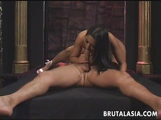 Brunette Asian mesmerizer getting anal fucked