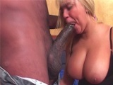 Erotic blonde sure can handle big black cocks