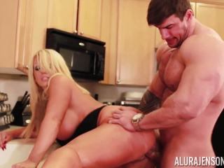 Alura Jenson gets pounded by huge muscle man Zeb Atlas