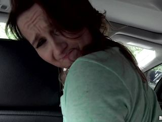 Picking up and smashing the sweet clit slit of Sadie Leigh in the car