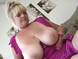 Bug breasted mature slut mom getting wet