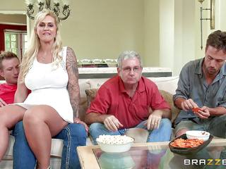 Naughty stepmom Ryan Conner is filled by her stepson