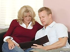 Milf Lexi Carrington gets her pierced pussy fucked by her sons friend - Hardcore sex video