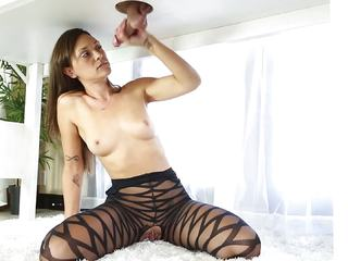 Olivia Wilder gives unbelievable head in tight nylons