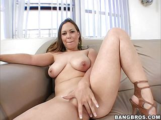 Kaylee Sanchez glides her wet pussy down on a big dick