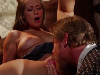 Cassidy Klein is shafted by a cowboys big dick