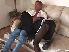 Black Teen Maid - Ebony sex video