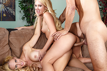 Hardcore blonde and big cock