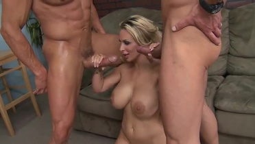 Holly Halston, Tommy Gunn and Marco Banderas in startling anus drilling group porno action