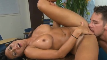 Mature in hardcore adult video in office