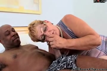 Granny In Glasses Gets Bbc