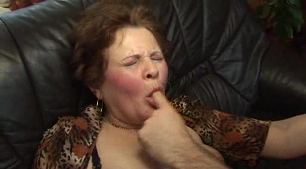 Dirty granny on the top of stud dick