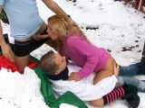 Threesome in the snow!