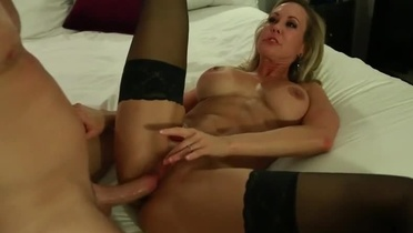 Milf Brandi Love with hot hooters is acting in jizz flow porn