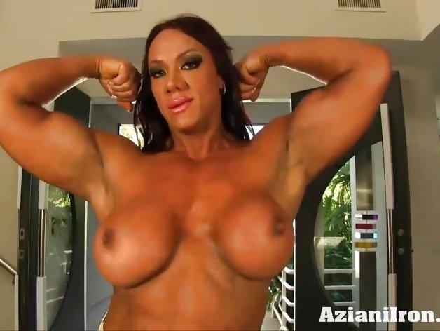 Aziani Iron Amber Deluca female bodybuilder nude flexin