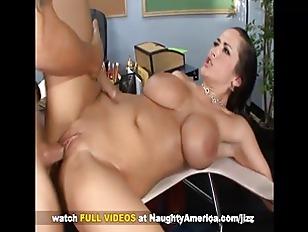 Busty Carmella Bing fuck in classroom on Naughty America