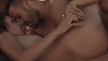 European beauty is acting in sensual sex movie in outdoor