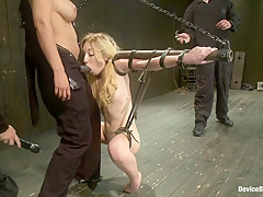 Suspended, Whipped and Face-fucked