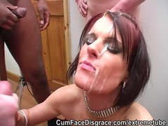 British skank taking amateur facials Amateur and Bukkake Videos