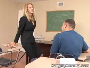 Sexy Teacher Rides A Big Fat Cock