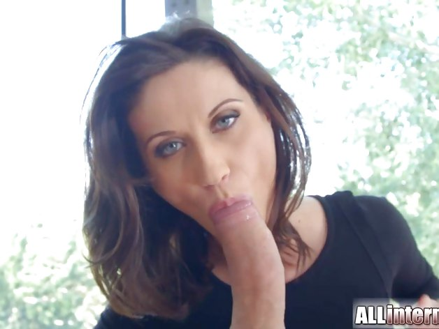 Secretary with glasses insane anal creampie