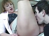 Mature Mom Gets Seduced By A Young Man In The Bathroom