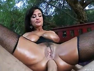Lisa Ann oiled and fucked