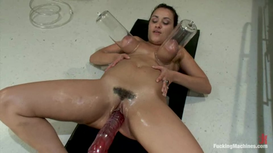 Charley Chase Gets Her Tits Pumped And Her Vag Fucked By A Sex Machine