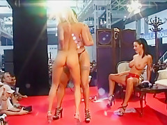Three Nasty Girls Grind Naked On Stage
