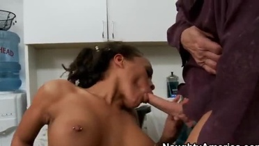 Black milf Cassidy Clay is acting in hardcore sex action