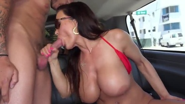 Milf Lisa Anne with hot love melons is acting in dick sucking porn